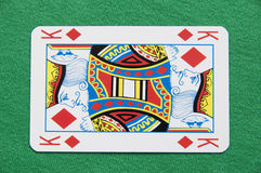 Cartão isolado do rei jogo Fotografia de Stock Royalty Free