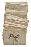 Cartão isolados no fundo branco Fotografia de Stock