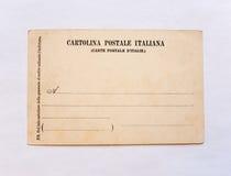 Cartão italiano do vintage Fotografia de Stock Royalty Free