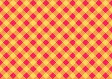 Cartão largo amarelo quadriculado do vermelho alaranjado Fundo da forma do vetor Ilustração Royalty Free