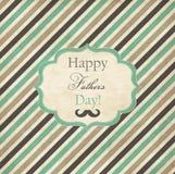 Cartão listrado para o dia de pais Fotos de Stock Royalty Free