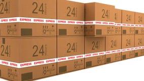 Cartão logístico ilustração stock