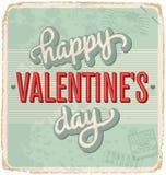 cartão Mão-indicado por letras dos Valentim do vintage Imagens de Stock