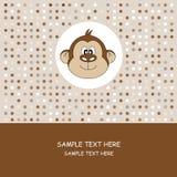 Cartão. Macaco Imagens de Stock