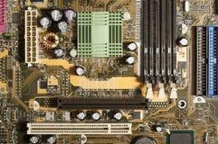 Cartão-matriz com microplaquetas, memória do computador, pci foto de stock royalty free