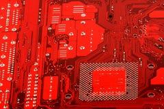 Cartão-matriz do circuito de computador Fotografia de Stock