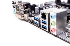 Cartão-matriz do computador do PC imagem de stock