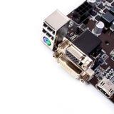 Cartão-matriz do computador do PC fotografia de stock royalty free