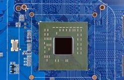 Cartão-matriz do computador, soquete do processador central, DOF Fotos de Stock