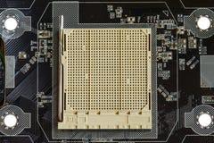 Cartão-matriz do soquete do processador central do hardware imagem de stock