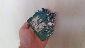Cartão-matriz dos telefones celulares foto de stock