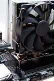 Cartão-matriz preto com o fã para o processador central Imagem de Stock