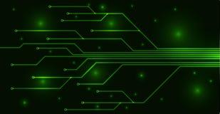 Cartão-matriz verde Foto de Stock