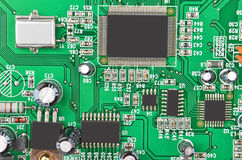 Cartão-matriz verde do computador Fotografia de Stock Royalty Free