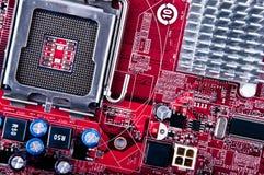 Cartão-matriz vermelho Fotos de Stock