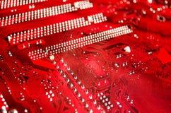 Cartão-matriz vermelho Fotografia de Stock Royalty Free