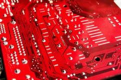 Cartão-matriz vermelho Foto de Stock