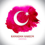 Cartão moderno bonito de Ramadan Kareem Fotos de Stock