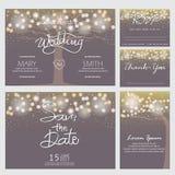 Cartão moderno do convite do casamento Imagem de Stock Royalty Free