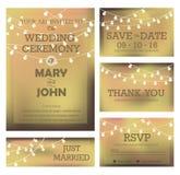 Cartão moderno do convite do casamento Imagens de Stock
