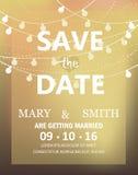 Cartão moderno do convite do casamento, vetor Fotos de Stock