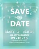Cartão moderno do convite do casamento, vetor Imagem de Stock
