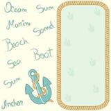 Cartão náutico Fotos de Stock