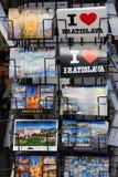 Cartão na exposição da cidade Bratislava em Eslováquia Imagem de Stock