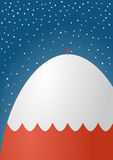 Cartão nevado da montanha Ilustração Stock