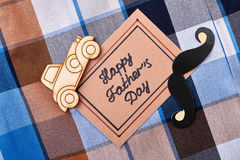 Cartão no fundo do guingão Fotos de Stock Royalty Free
