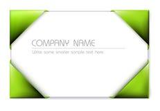 Cartão no suporte de cartão verde Fotos de Stock Royalty Free