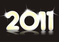 Cartão novo de 2011 anos. ilustração do vetor
