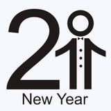 Cartão novo de 2011 anos. Fotografia de Stock