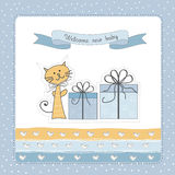 Cartão novo do anúncio do bebê Imagem de Stock Royalty Free