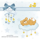 Cartão novo do chuveiro de bebê Imagem de Stock Royalty Free