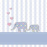 Cartão novo do convite do chuveiro de bebê Fotografia de Stock