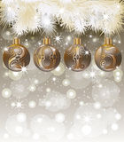 Cartão novo feliz de 2015 anos Imagens de Stock