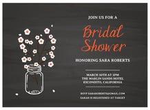 Cartão nupcial do convite do chuveiro Fotografia de Stock