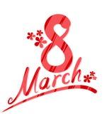 Cartão o 8 de março Imagens de Stock