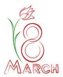 Cartão o 8 de março Imagem de Stock