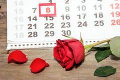Cartão o 8 de março Foto de Stock