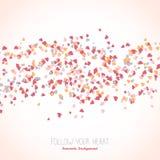Cartão ondulado com corações cor-de-rosa minúsculos Quadro de texto ilustração do vetor