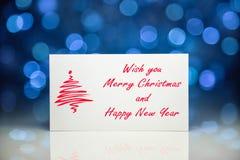 Cartão ou cartão do Natal Imagens de Stock Royalty Free