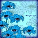 Cartão ou convite de casamento com os vagabundos abstratos da flor Imagem de Stock
