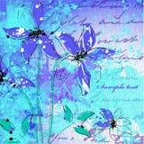 Cartão ou convite de casamento com os vagabundos abstratos da flor Fotografia de Stock