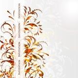 Cartão ou convite de casamento com os vagabundos florais abstratos Fotos de Stock Royalty Free