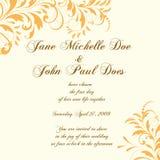 Cartão ou convite de casamento com os vagabundos florais abstratos Imagens de Stock