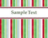 Cartão ou convite de Natal com árvores coloridas Fotos de Stock