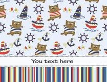 Cartão ou convite sem emenda da festa do bebê Imagens de Stock Royalty Free