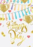 Cartão ou fundo do dia de pais Ilustração do vetor ilustração stock